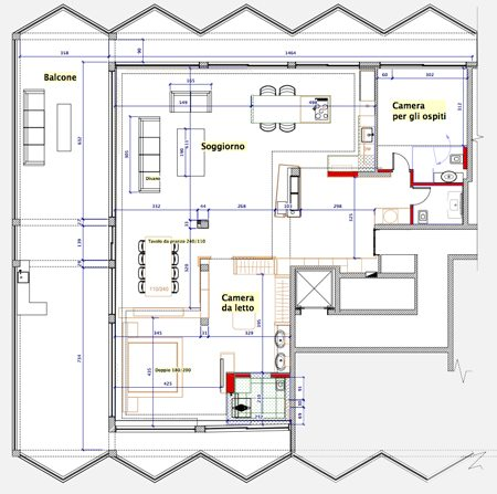 תוכנית דירה במנדרין פנטאוהס