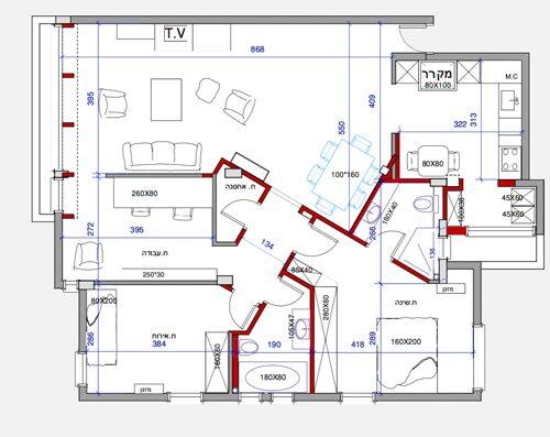 דירת 4 חדרים כפר סבא