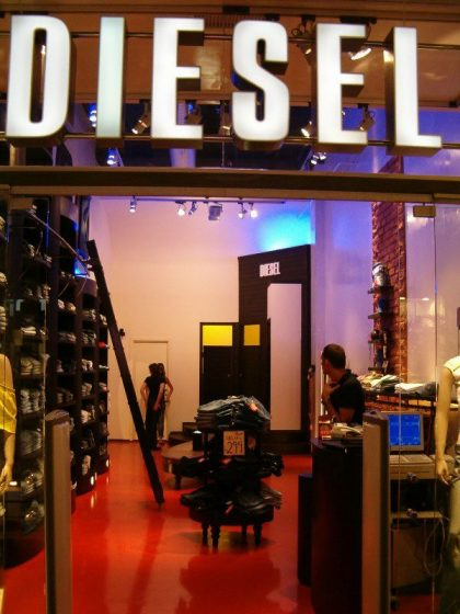 Store clothing and fashion Diesel